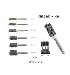 Cepillo Térmico Ceramic+Ion Olivia Garden 20 mm