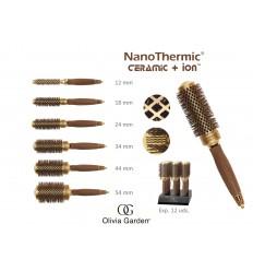 Cepillo Térmico NanoThermic Ceramic+Ion Olivia Garden 34 mm