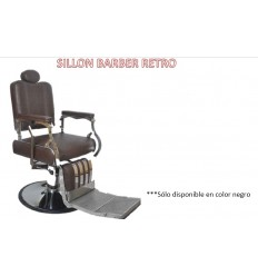 Sillón Barbero Retro Black