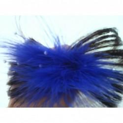 Pinzita con pluma de color