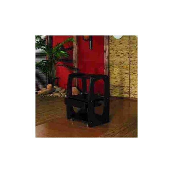Mesas auxiliares carrito madera wengue 3 bandejas con caj n for Madera wengue