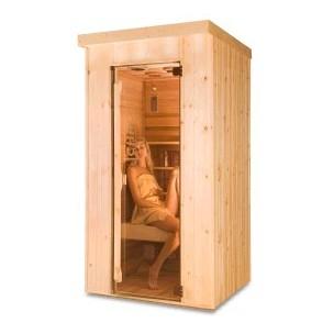 Sauna Infrarrojos 1 Persona Madera Natural - Sauna-madera